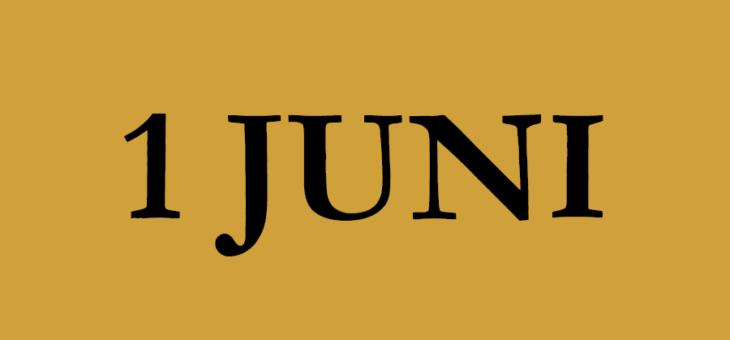 (her)Opening 1 juni