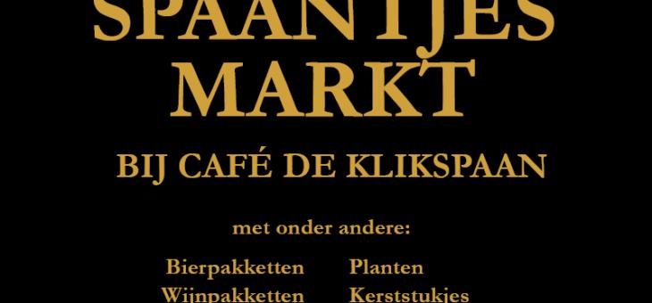 Spaantjesmarkt bij Café de Klikspaan